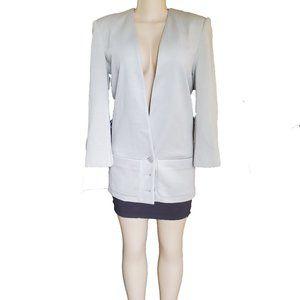 Harve' Bernard Long Cream Wool Blazer  Siz…